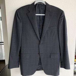 38R Canali Glen Check 100% Wool Suit Jacket